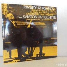 Discos de vinilo: RIMSKY-KORSAKOV. SVIATOSLAV RICHTER. LA PASCUA RUSA. VER FOTOGRAFIAS ADJUNTAS.SINFONIA Nº 3.. Lote 69279889