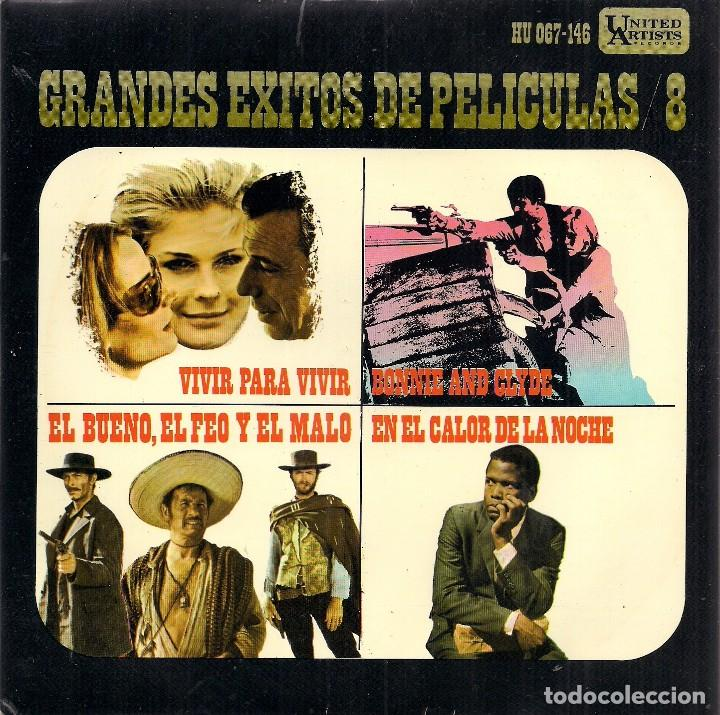 GRANDES ÉXITOS DE PELÍCULAS / 8 (EP. UNITED ARTISTS, 1968) (Música - Discos de Vinilo - EPs - Bandas Sonoras y Actores)