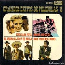 Discos de vinilo: GRANDES ÉXITOS DE PELÍCULAS / 8 (EP. UNITED ARTISTS, 1968). Lote 69289309