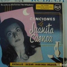 Discos de vinilo: JUANITA CUENCA, ANDALUZ + 3. Lote 69292069
