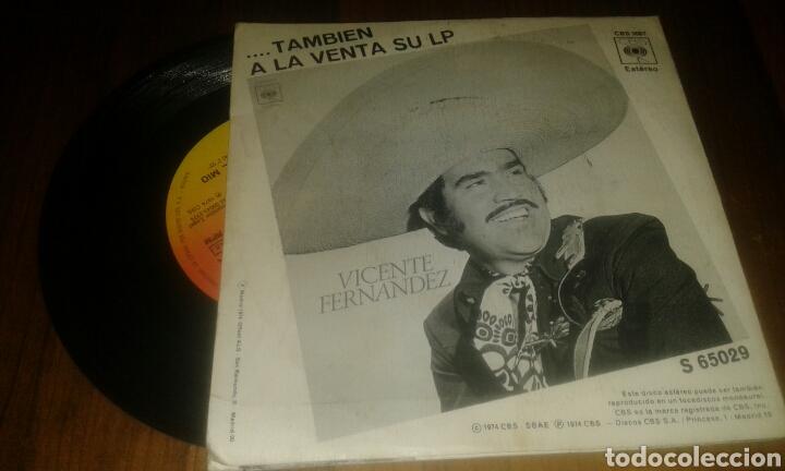 Discos de vinilo: VICENTE FERNÁNDEZ:TU CAMINO Y EL MIO/LA MISMA (SG.7p.1974.CBS.) - Foto 2 - 69295025