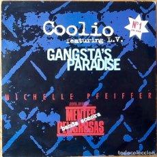 Discos de vinilo: COOLIO FEAT. L.V. : GANGSTA'S PARADISE [ESP 1995]. Lote 97270832