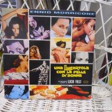 Discos de vinilo: ENNIO MORRICONE – UNA LUCERTOLA CON LA PELLE DI DONNA.LP SELLO DAGORED 2000.CARPETA ABIERTA. Lote 69303301