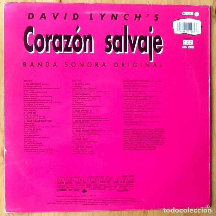 Discos de vinilo: V / A : BSO WILD AT HEART (CORAZON SALVAJE) [ESP 1990] LP - Foto 2 - 69355781