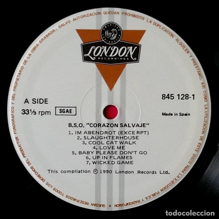 Discos de vinilo: V / A : BSO WILD AT HEART (CORAZON SALVAJE) [ESP 1990] LP - Foto 3 - 69355781