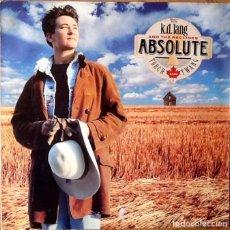 Discos de vinilo: K.D. LANG & THE RECLINES : ABSOLUTE TORCH AND TWANG [DEU 1989] LP. Lote 69363209