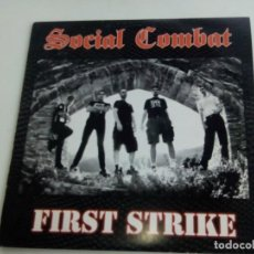 Discos de vinilo: SOCIAL COMBAT FIRST STRIKE CON ENCARTE. Lote 69366469
