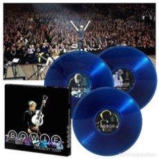 Discos de vinilo - DAVID BOWIE - A REALITY TOUR 3LP Vinilo 180g Azul tranaslúcido Box Set Limitado Sony Precintado - 69405965