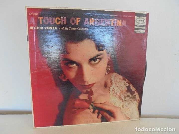 A TOUCH OF ARGENTINA. HECTOR VARELA AND HIS TANGO ORCHESTRA. VER FOTOGRAFIAS ADJUNTAS (Música - Discos de Vinilo - Maxi Singles - Otros estilos)