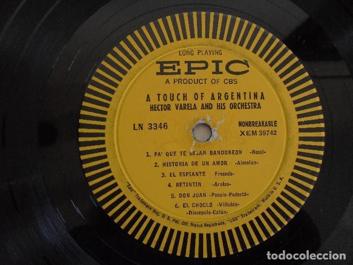 Discos de vinilo: A TOUCH OF ARGENTINA. HECTOR VARELA AND HIS TANGO ORCHESTRA. VER FOTOGRAFIAS ADJUNTAS - Foto 4 - 69408285