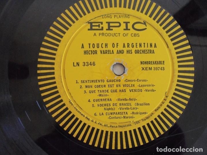 Discos de vinilo: A TOUCH OF ARGENTINA. HECTOR VARELA AND HIS TANGO ORCHESTRA. VER FOTOGRAFIAS ADJUNTAS - Foto 6 - 69408285