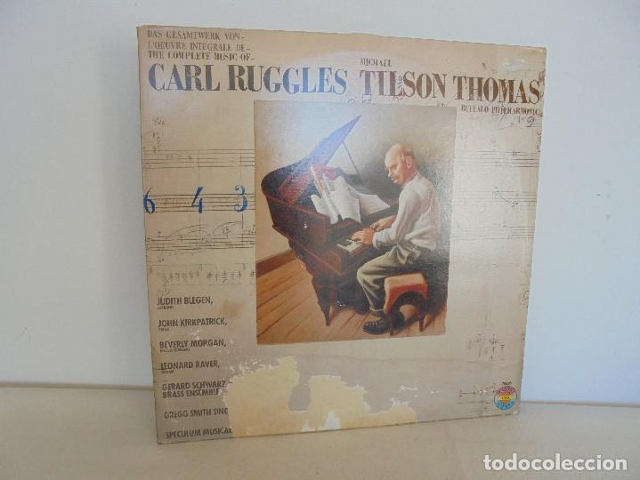 CARL RUGGLES TILSON THOMAS BUFFALO PHILHARMONIC. DOS DISCOS. VER FOTOGRAFIAS ADJUNTAS (Música - Discos - Singles Vinilo - Orquestas)
