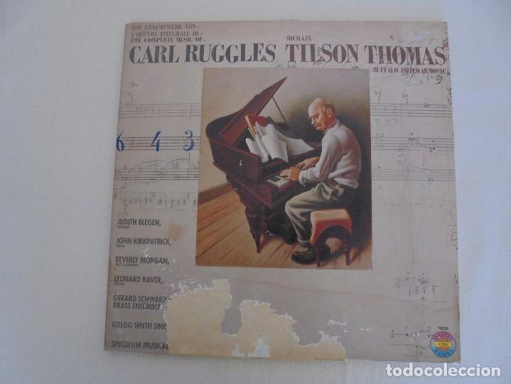 Discos de vinilo: CARL RUGGLES TILSON THOMAS BUFFALO PHILHARMONIC. DOS DISCOS. VER FOTOGRAFIAS ADJUNTAS - Foto 2 - 69417597