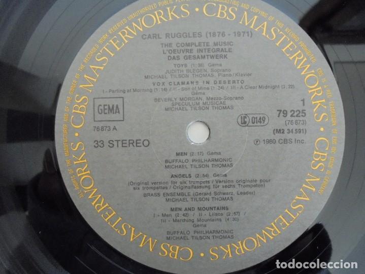 Discos de vinilo: CARL RUGGLES TILSON THOMAS BUFFALO PHILHARMONIC. DOS DISCOS. VER FOTOGRAFIAS ADJUNTAS - Foto 5 - 69417597