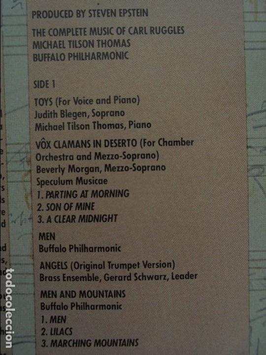 Discos de vinilo: CARL RUGGLES TILSON THOMAS BUFFALO PHILHARMONIC. DOS DISCOS. VER FOTOGRAFIAS ADJUNTAS - Foto 12 - 69417597