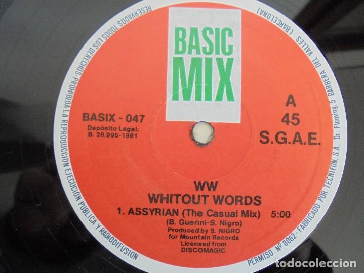 Discos de vinilo: WITHOUT WORDS. ASSYRIAN. BASIC MIX.1991. VER FOTOGRAFIAS ADJUNTAS - Foto 4 - 69417977