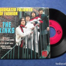 Discos de vinilo: THE KINKS DEDICATED FOLLOWER OF ..+ 3 EP FRANCIA PDELUXE. Lote 69431549
