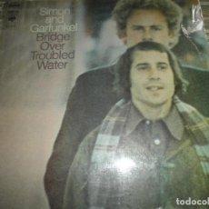 Discos de vinilo: SIMON AND GARFUNKEL - BRIDGE OVER TROUBLED WATER LP - ORIGINAL HOLANDES - CBS 1970 ORANGE LABEL -. Lote 69471925