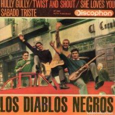 Discos de vinilo: DIABLOS NEGROS, EP, HULLY GULLY + 3, AÑO 1964. Lote 69476125