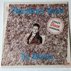Discos de vinilo: AMADEUS LISZT - LA DONNA (CRAZY DISCO VERSION) - 1986. Lote 69503569