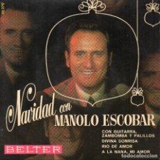 Discos de vinilo: NAVIDAD CON MANOLO ESCOBAR EP 1970. Lote 69580581