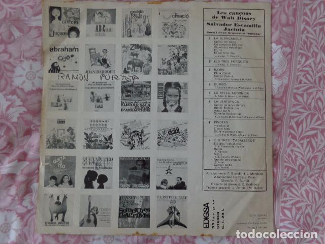 Discos de vinilo: Les Cançons de Walt Disney - Salvador Escamilla i Jacinta - Edigsa CI 23L - 1968 - Foto 2 - 69616957