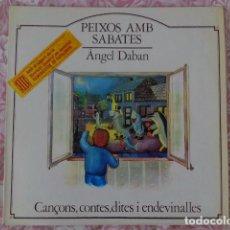 Discos de vinilo: ÀNGEL DABAN - PEIXOS AMB SABATES - CANÇONS, CONTES, DITES I ENDEVINALLES - LA GRANOTA 1982. Lote 69619237