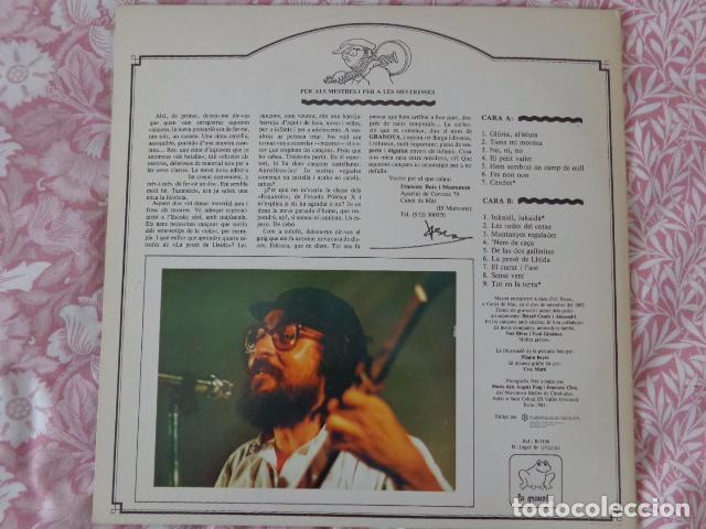 Discos de vinilo: 1,2,3... Salta Pagès - Xesco Boix - Cançons per a l'escola - La granota 1984 - Como Nuevo - Foto 4 - 69621005