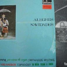 Discos de vinilo: ALEGRES NAVIDADES - VILLANCICOS FONTANA VOL 1 - 1967. Lote 69627373