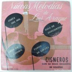 Discos de vinilo: LUIS ARAQUE Y ORQUESTA CISNEROS - COSTA DEL SOL +3 1961 EP COLUMBIA FOX SWING BOLERO. Lote 69681665