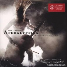 Discos de vinilo: APOCALYPTICA AND THE MDR SYMPHONY ORCHESTRA 2 LP. WAGNER RELOADED .LIVE IN LEIPZIG NUEVO. Lote 69686977