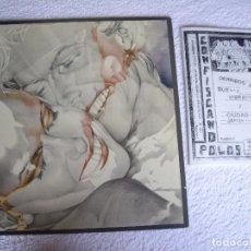 Discos de vinilo: DERRIBOS ARIAS MX 12'' A FLUOR JOYA MOVIDA 1982 RARO REGALO FANZINE CONFISCANDO POLOS. Lote 69700757