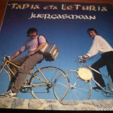 Discos de vinilo: LP DE TAPIA ETA LETURIA. JUERGASMOAN. EDICION ELKAR DE 1990. MUSICA VASCA.. Lote 69721281