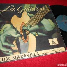 Discos de vinilo: LUIS MARAVILLA LA GUITARRA 10 PULGADAS 25 CTMS 195? ODEON EDICION ESPAÑOLA SPAIN GUITAR. Lote 69755513