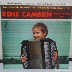 Discos de vinilo: EP - RENE CAMBIEN - DUCRETET Y TOMSOM D/E-23 - 1962. Lote 69757413