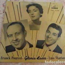 Discos de vinilo: FRANCK POURCEL / GLORIA LASSO / LUIS MARIANO ?– CANASTOS +3 - EP 1956. Lote 69770337