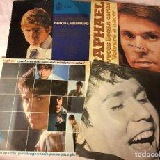 Discos de vinilo: ANTIGUO LOTE COLECCION DE DISCOS SINGLES DE RAPHAEL, ENTRAN TODOS. Lote 69783565