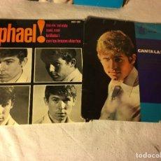 Discos de vinilo: ANTIGUO LOTE COLECCION DE DISCOS SINGLES DE RAPHAEL, ENTRAN TODOS. Lote 69783737