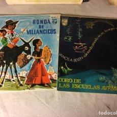 Discos de vinilo: ANTIGUO LOTE COLECCION DE DISCOS SINGLES DE NAVIDAD VILLANCICOS, ENTRAN TODOS. Lote 69784181