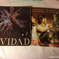 Discos de vinilo: ANTIGUO LOTE COLECCION DE DISCOS SINGLES DE NAVIDAD VILLANCICOS, ENTRAN TODOS. Lote 69784377