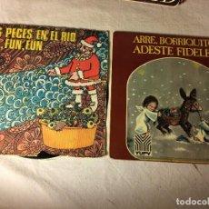Discos de vinilo: ANTIGUO LOTE COLECCION DE DISCOS SINGLES DE NAVIDAD VILLANCICOS, ENTRAN TODOS. Lote 69784457