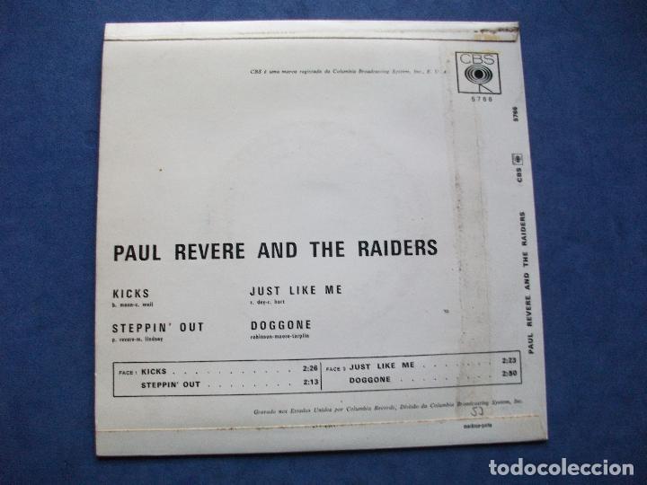 Discos de vinilo: PAUL REVERE & THE RAIDERS !!!!!!ULTIMA OPORTUNIDAD!!!!!!!!!!!! KICKS + 3 EP PORTUGAL PDELUXE - Foto 2 - 69801101
