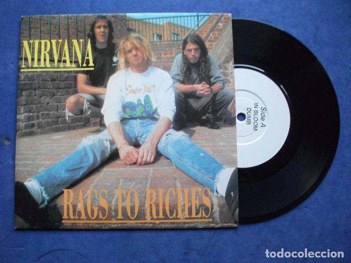 Discos de vinilo: NIRVANA RAGS TO RICHES - IN BLOOM + 3 EP UK 1992 PDELUXE - Foto 1 - 69801133
