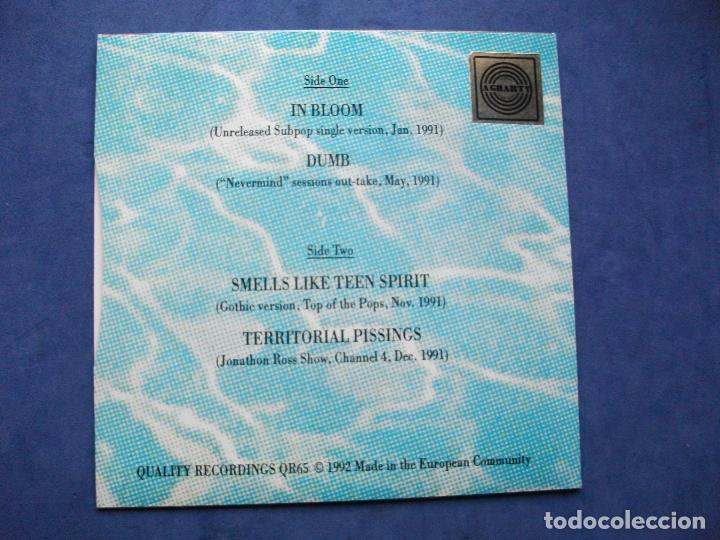 Discos de vinilo: NIRVANA RAGS TO RICHES - IN BLOOM + 3 EP UK 1992 PDELUXE - Foto 2 - 69801133