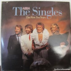 Discos de vinilo: ABBA (THE SINGLES) THE FIRST TEN YEARS 1982 LP33 DOBLE. Lote 69818965