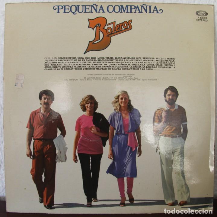 Discos de vinilo: PEQUEÑA COMPAÑIA BOLEROS LP VINILO MAXI SINGLES - Foto 2 - 69819465