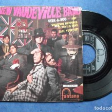 Discos de vinilo: THE NEW VAUDEVILLE BAND PEEK-A-BOO + 3 EP SPAIN 1967 PDELUXE. Lote 69826157
