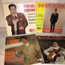 Discos de vinilo: LOTE COLECCION DE 4 DISCOS SINGLES RAFAEL FARINA TODOS FOTOGRAFIADOS.. Lote 69855941