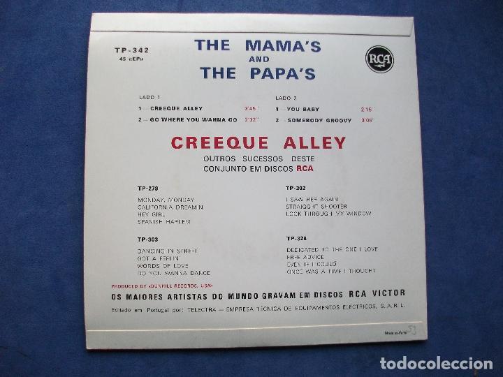 Discos de vinilo: THE MAMA'S & THE PAPA'S CREEQUE ALLEY + 3 EP PORTUGAL PDELUXE - Foto 2 - 69858833