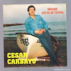Discos de vinilo: CESAR CARBAYO - MÍRAME + ASÍ ES MI TIERRA (SG 7'' 1993, FONOGRAF SG-1068). Lote 69874705